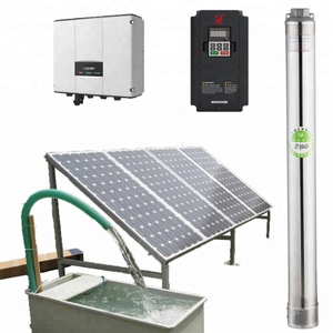 1500 Watt Solar Water Pump, Agriculture Brushless Submersible Deep Well Solar Pump