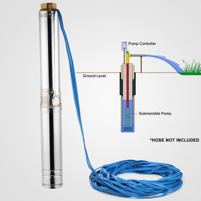 10-500m Max Head Submersible Solar Pump 1-300m3/h Solar Water Well Pumps Solar Water Pumping System For Deep Well