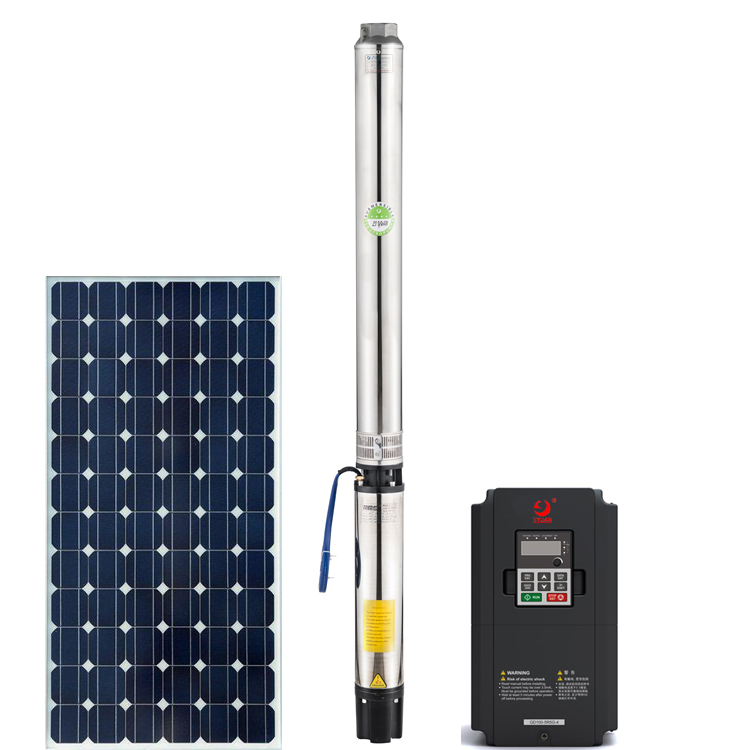 Sunpal Solar Power Brushless Deep Well Submersible Pump 5HP Agriculture Irrigation Water Pump System