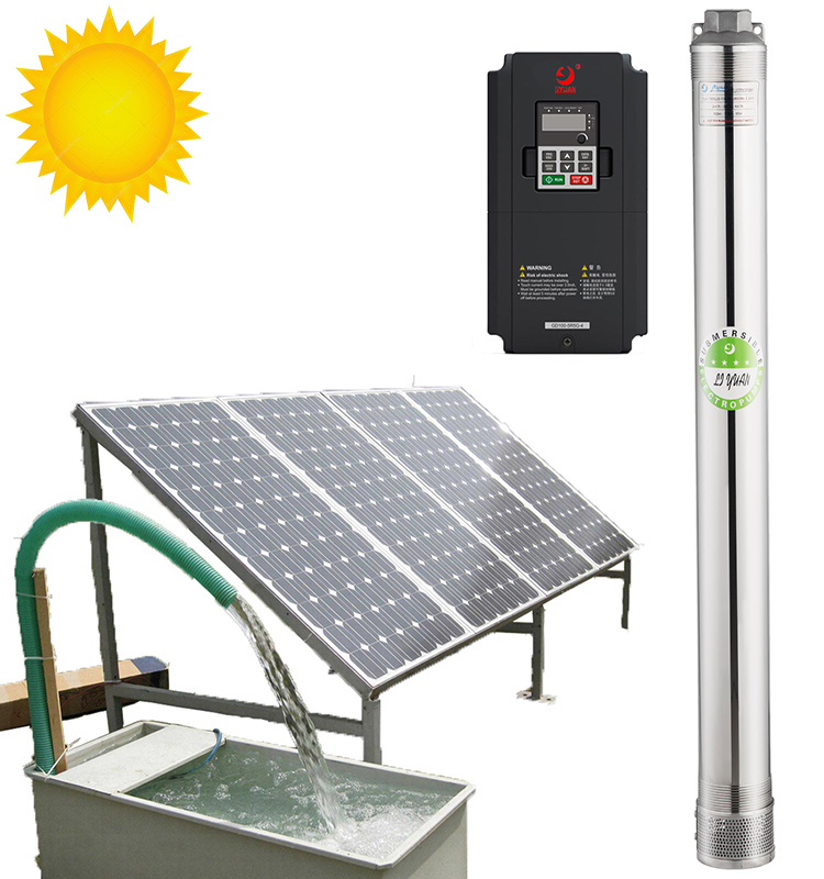 Factory Wholesale Centrifugal Agriculture Solar Power Fountain Pond Water Pump Submersible Deep Well Inverter System
