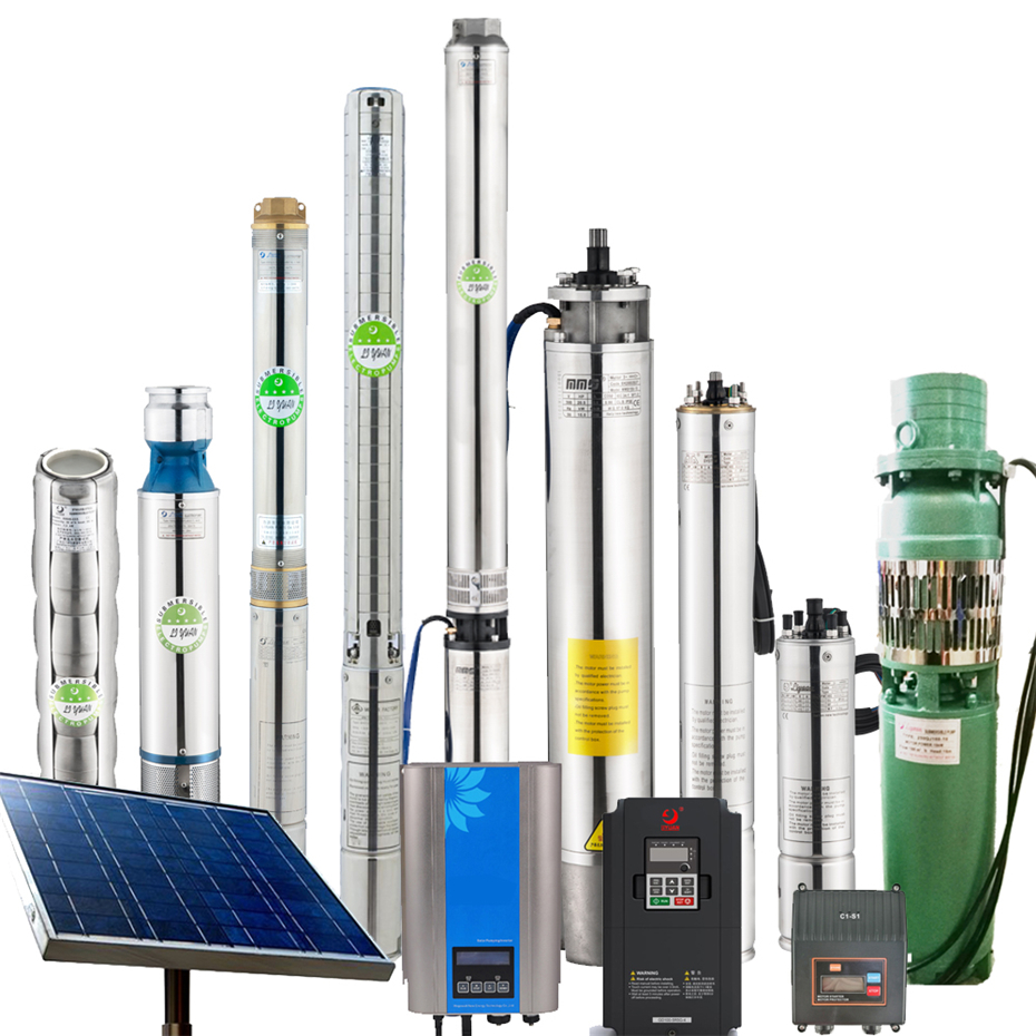100m Lift 24v 36v DC Submersible 0.5 Hp 1 Hp 2 Hp Deep Well Solar Powered Submersible Water Pump with External Controller
